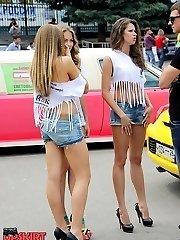 Nice girls denim shorts pics here