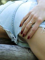 Voyeur downblouse erected nipples