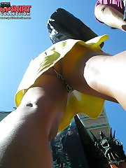 Partying girls upskirts on spy cam