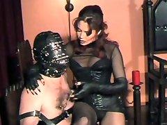 Mistress Torments His Nipples, Cock And Balls!!!!!!!