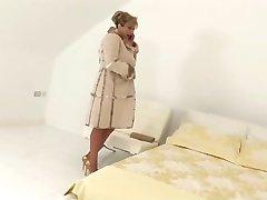 Huge BBC creams mature wearing stockings