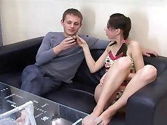 Skinny Julia try porn
