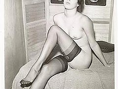 Vintage wearing stockings