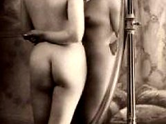Vintage girls posing naked