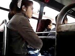 FLASHING SHY GIRL WATCHING MY DICK HEAD ON THE BUS