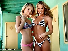 Carter Cruise and Dakota Skye star in this epic feature presentation with James Deen.  Two girls' imaginations run wild as they fantasize a sexually thrilling adventure filled with BDSM and rough anal sex.