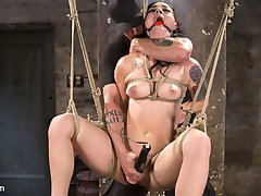 Rachael is sexy as hell and as soon as he rope touches her flesh, you can tell that she is a...
