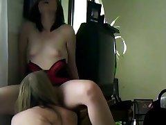 My lesbian girl friend licks my pussy