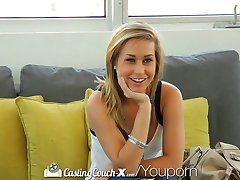 HD - CastingCouch-X Kennedy Leigh begs for her first facial on camera