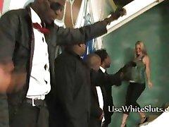 Pregnant white girl black gangbang