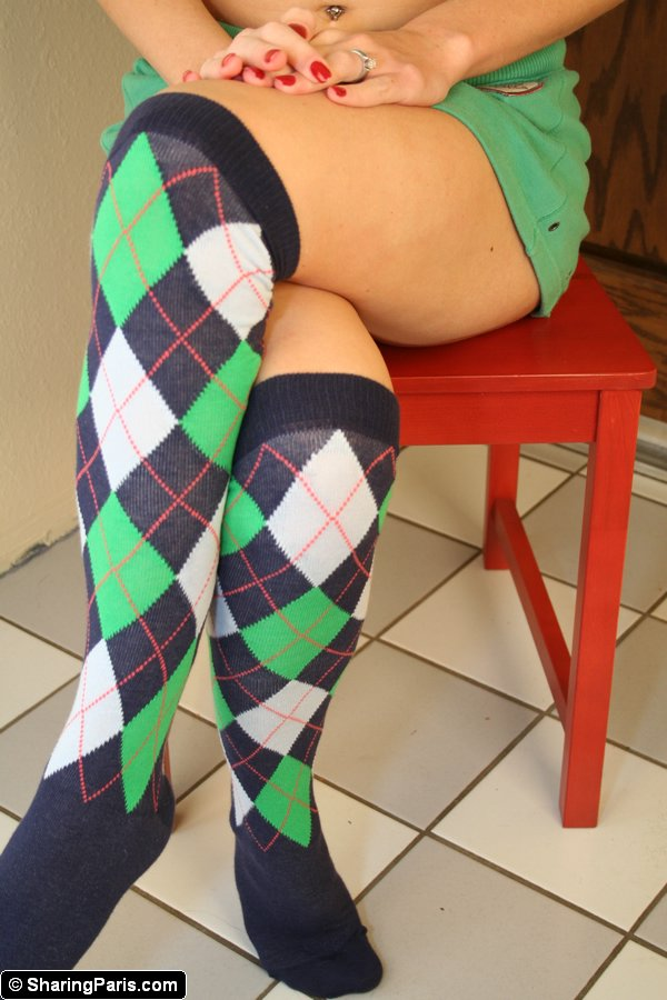 Hot ass socks thighs naked 16 Pics Hot Redhead Wife Paris In Sexy Thigh High Socks