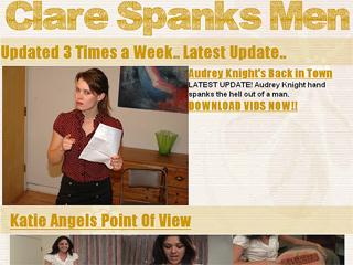 Clare Spanks Men