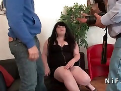 Young french BBW anal fucked for her casting couch