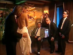Old retro porno with great orgy