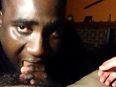 Black Football Player Swallows Hung White Cum