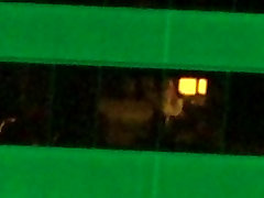 hot slut is getting ready for bed 30x zoom windows spy
