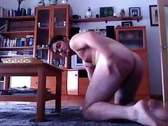 Spanish Str8 Guy Shows His Big Ass On Doggy Style On Cam