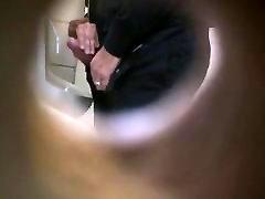 Str8 spy daddies helping hand in public toilet