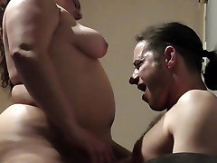 MY HOT BBW WIFE RIDING ME WITH OUR FACES