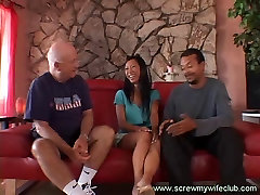 Sexy Asian wife spanked and enjoyed a big cock