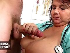 Perverse granny nurse Linda doctor patient cfnm
