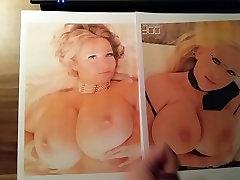 Double Cumshot on Big Tits