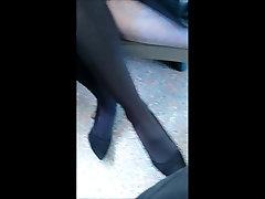 Hot mature pantyhose and heels