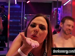 Horny lesbians fucking in the club