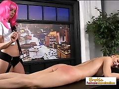 Lesbian Mistress Giving Pain To A Hot Teen Cheerleader