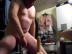 Riding real huge dildo twice and shoot my hot cum 7 shots