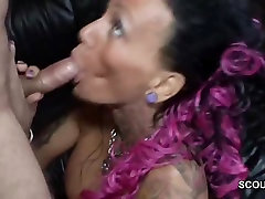 Tattoo and Big Tit MILF Seduce to Fuck by German Chef