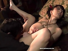 Japanese monster tits babe at the prison
