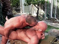 Buff bear rails jocks ass