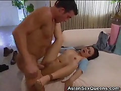 Asian Sweetie Spreads Legs For Fucking