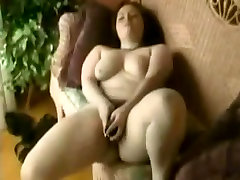Horny Fat BBW masturbating her wet hairy pussy