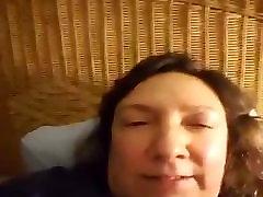 Grandma rubs swollen pussy