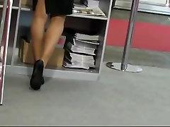 Candid Hostess Shoeplay Nylon Feet