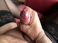 Handjob stockings mastrebution comming nylon