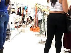 19yo Phat Ass Ebony Teen in Black Spandex