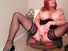 My MILF Exposed Sexy mature wife lingerie stakings smoking