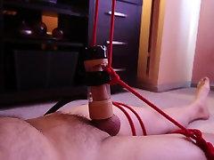 Machine Milked and twice ruined orgasm