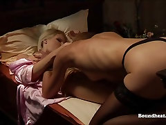 Mistress whips her disobedient slave with perky tits