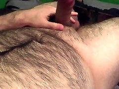 edged cum on hairy belly