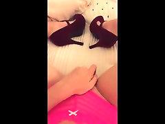 Pink panties and high heels