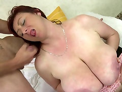 MOM with HUGE tits fuck young lucky boy