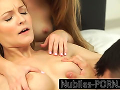 Nubiles-Porn First time threesome for college babes