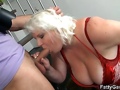 Big tits blonde doggystyled after photosession