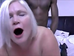 granny takes the big black cock hubby films