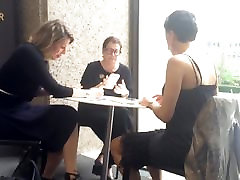 Three mature women gossip