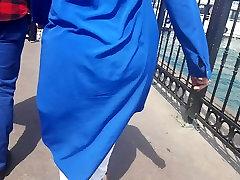 Turkish hijab milf jiggle ass